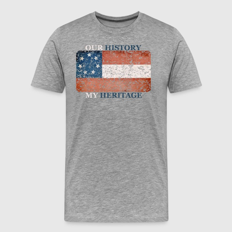 Stars and Bars Flag - Men's Premium T-Shirt