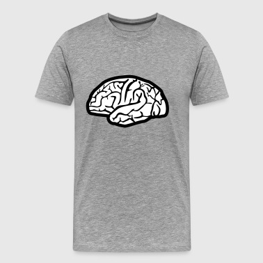 Brain, brains - Men's Premium T-Shirt