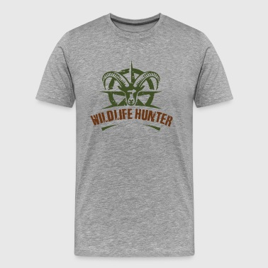 Wildlife Hunter 001 - Men's Premium T-Shirt
