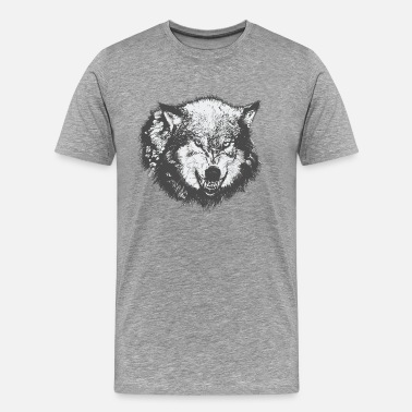 Growling Wolf Wolf - Men's Premium T-Shirt