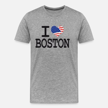 I Love Boston i love boston - Men's Premium T-Shirt