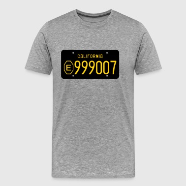 Retro California E999007 License Plate - Men's Premium T-Shirt