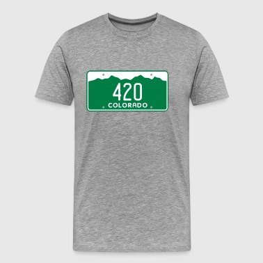 License Plate Retro Colorado 420 License Plate - Men's Premium T-Shirt