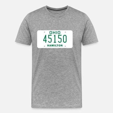 Ohio License Plate 45150 - Men's Premium T-Shirt