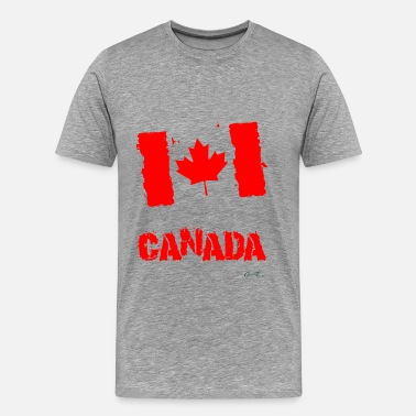 India Flag Canada Flag - Men's Premium T-Shirt