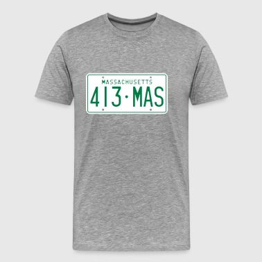 License Plate Retro Massachusetts License Plate - Men's Premium T-Shirt