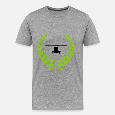 Laurel Wreath Star Helicopter laurel wreath - Men's Premium T-Shirt