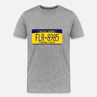 New York License Plate 2010 New York License Plate T-Shirt - Men's Premium T-Shirt