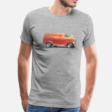 Retro 1970s Custom Van - Men's Premium T-Shirt