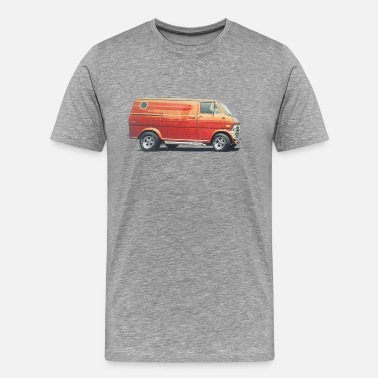 70s 1970s Custom Van - Men's Premium T-Shirt