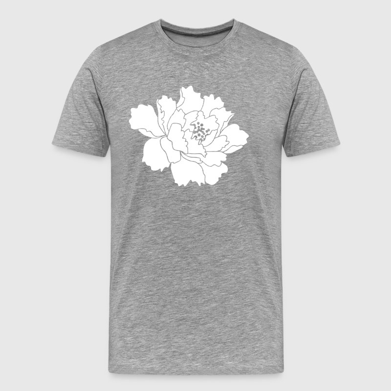 Peony Flower Vector - Men's Premium T-Shirt