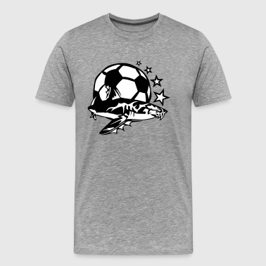 Logo Soccer soccer shark logo design hated - Men's Premium T-Shirt