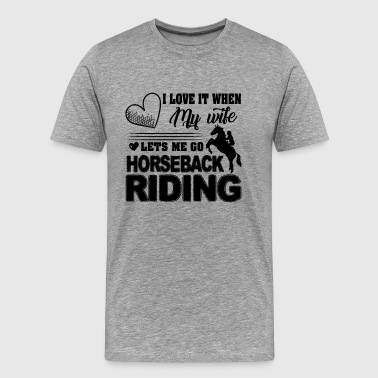 Horseback Riding Love Shirt - Men's Premium T-Shirt