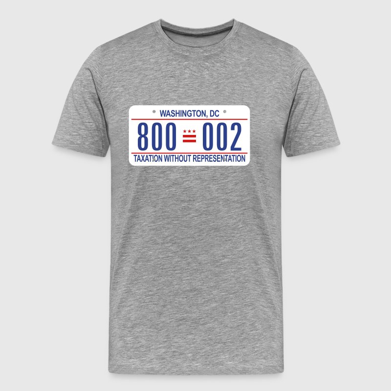 800-002 DC License Plate - Men's Premium T-Shirt