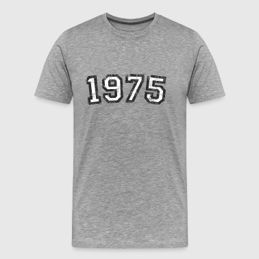 Established 1975 Year 1975 Birthday Design Vintage White - Men's Premium T-Shirt