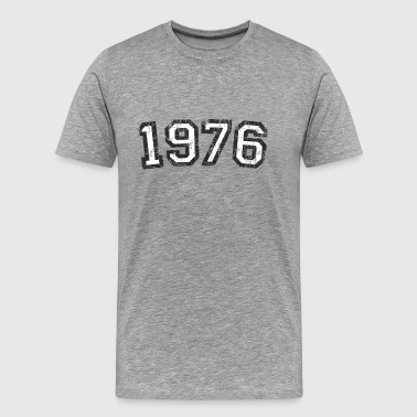 Year 1976 Birthday Design Vintage White - Men's Premium T-Shirt