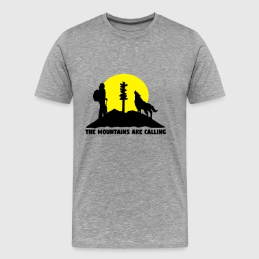 Hiking woman - The mountains are calling - Men's Premium T-Shirt