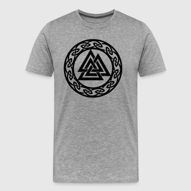 Symbol Warriors Germanic Valknut, Wotan's Knot, Walknot, Odin, Valhalla - Men's Premium T-Shirt