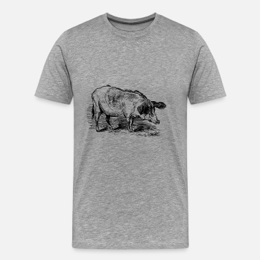 Hog-wild pig153 - Men's Premium T-Shirt