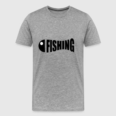 fishing funny logo - Men's Premium T-Shirt