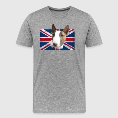 Bull Terrier UK grunge - Men's Premium T-Shirt