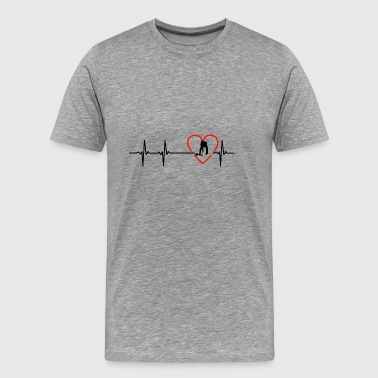 curling design - Men's Premium T-Shirt