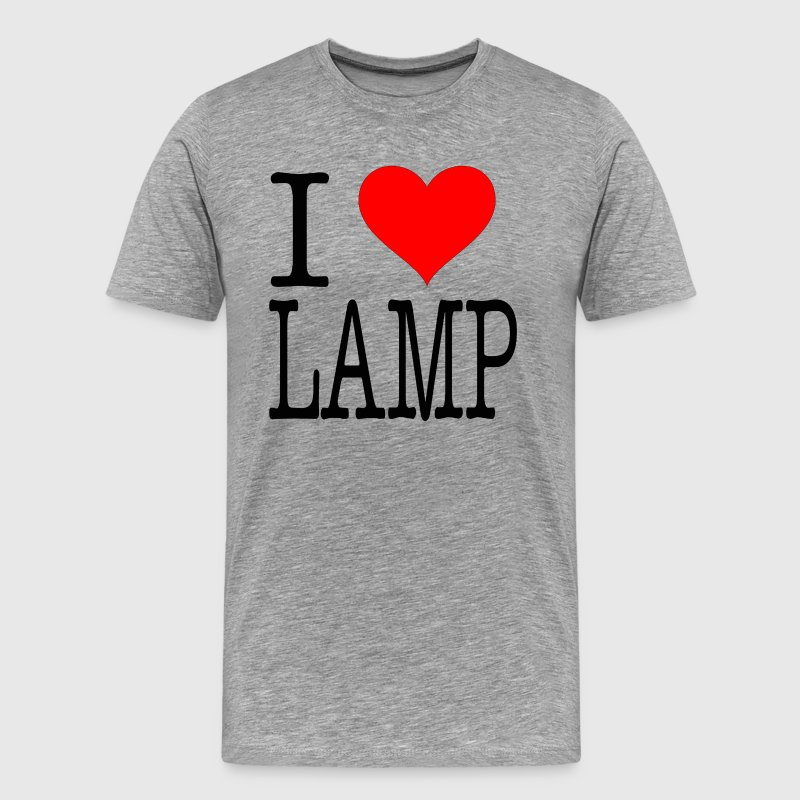 Anchorman Quote - I Love Lamp - Men's Premium T-Shirt