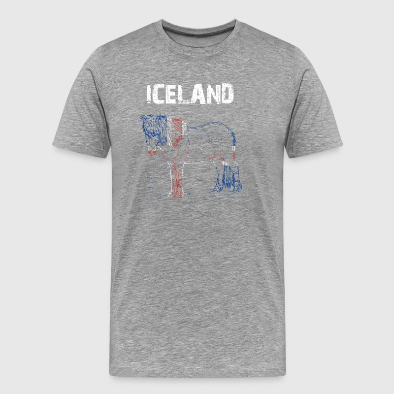Nation-Design Iceland Iceland Horse HetZx - Men's Premium T-Shirt