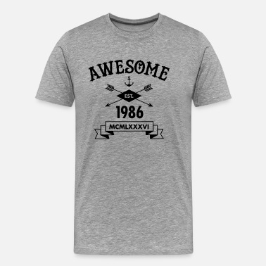 Est 1986 Awesome Est. 1986 - Men's Premium T-Shirt