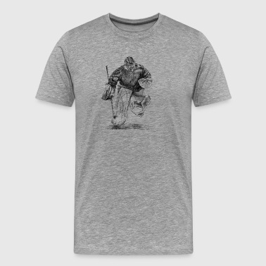 Hockey Goalie Hockey Torwart - Men's Premium T-Shirt