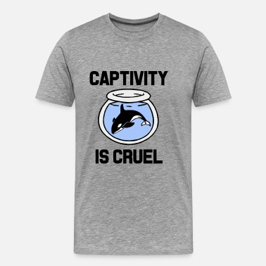 Free Orca Captivity is Cruel, Free the Orca Whales shirt  - Men's Premium T-Shirt