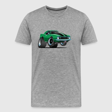 Vintage Camaro Classic American Muscle Car Cartoon - Men's Premium T-Shirt