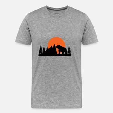 Moon Bear Mountains, wilderness and bears - Men's Premium T-Shirt