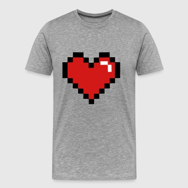 Pixel heart - Men's Premium T-Shirt