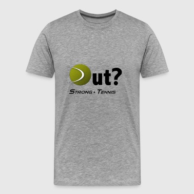 Outline Gaming Out Tennis - Men's Premium T-Shirt