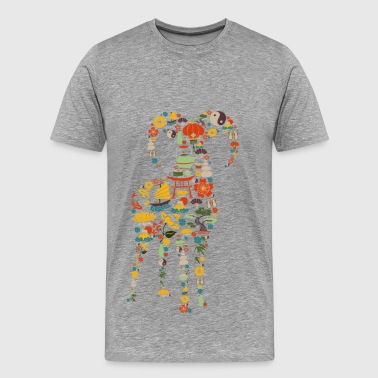 Colorful goat design - Men's Premium T-Shirt