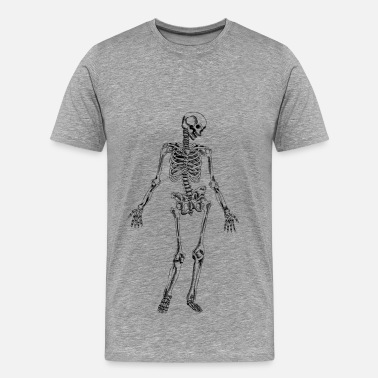 Skeleton Hands On Boobs Hand drawn skeleton sample - Men's Premium T-Shirt