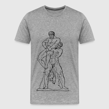 Hercules Muscle Heracles And Antaios - Men's Premium T-Shirt