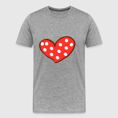 Red Heart I Love You Valentines Day - Men's Premium T-Shirt