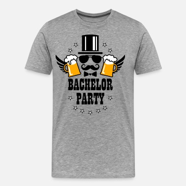Bachelor Party Game Over 52 Bachelor Party JGA Beer Groom Mustache - Men's Premium T-Shirt