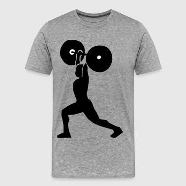Weight lifting clip art - Men's Premium T-Shirt