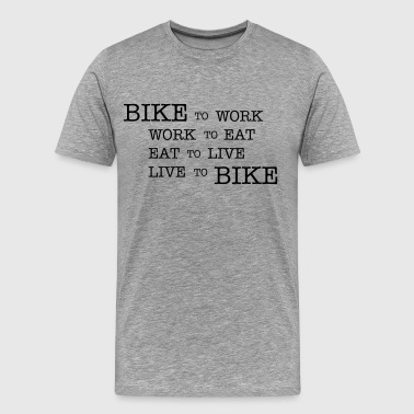 Bike to work - Men's Premium T-Shirt