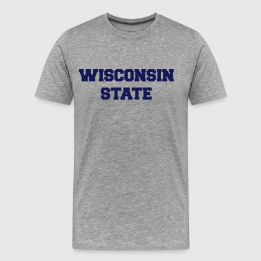 wisconsin state - Men's Premium T-Shirt