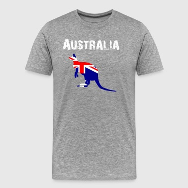 Nation-Design Australia Kangaroo Lb7MTL - Men's Premium T-Shirt