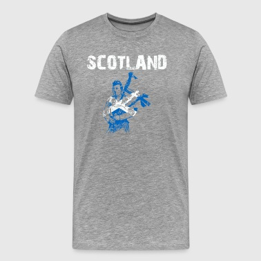 Nation-Design Scotland Bagpipe cLH - Men's Premium T-Shirt