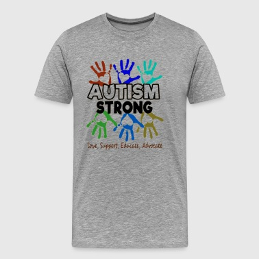 Autism Awareness Autism Strong - Men's Premium T-Shirt