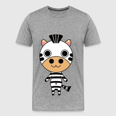 Cartoon standing zebra - Men's Premium T-Shirt