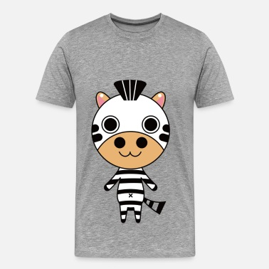 Zebra Cartoon Cartoon standing zebra - Men's Premium T-Shirt