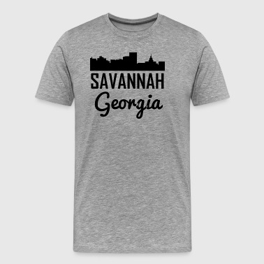 Savannah Georgia Skyline - Men's Premium T-Shirt