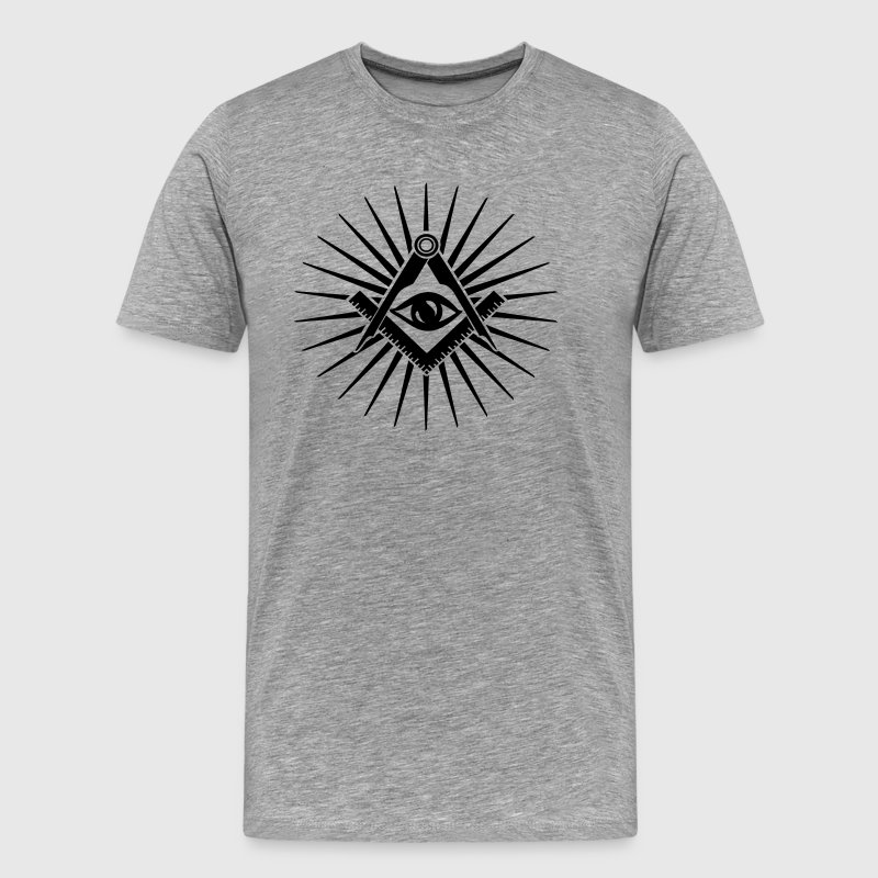 Masonic symbol, all seeing eye, freemason - Men's Premium T-Shirt